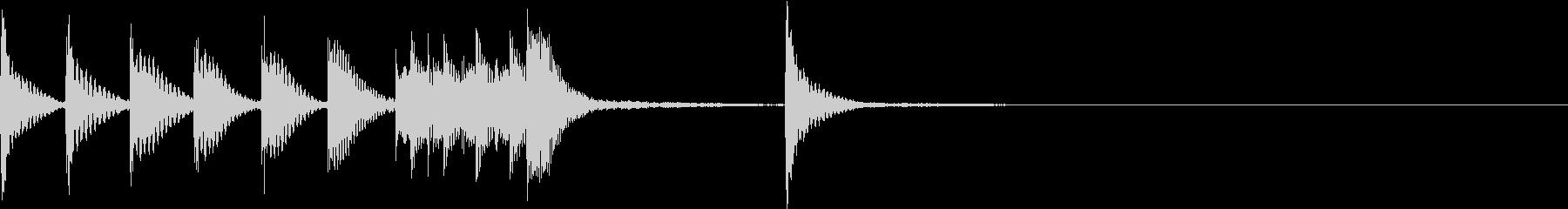 ほのぼのしたマリンバジングル2の未再生の波形