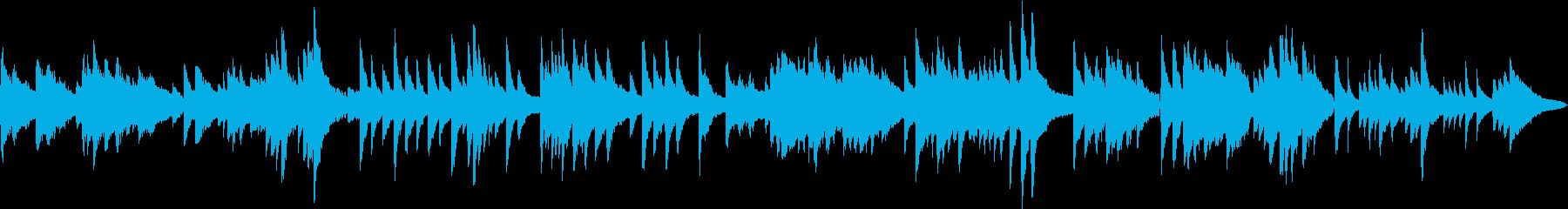 生演奏 暗く重いピアノ曲の再生済みの波形