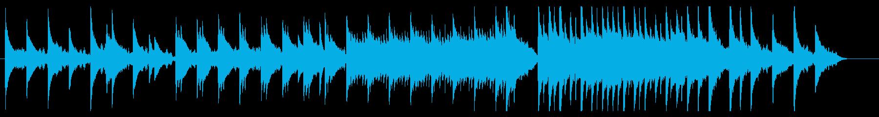 ピアノとストリングスの静かな曲です。の再生済みの波形