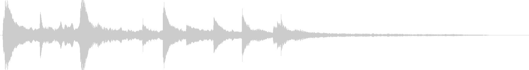 Sound logo inspiring piano melody's unreproduced waveform