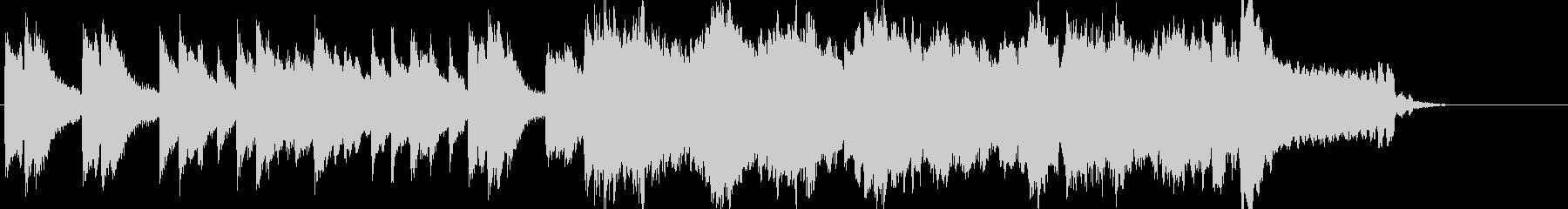 爽やかでゆったりとしたサウンドロゴの未再生の波形