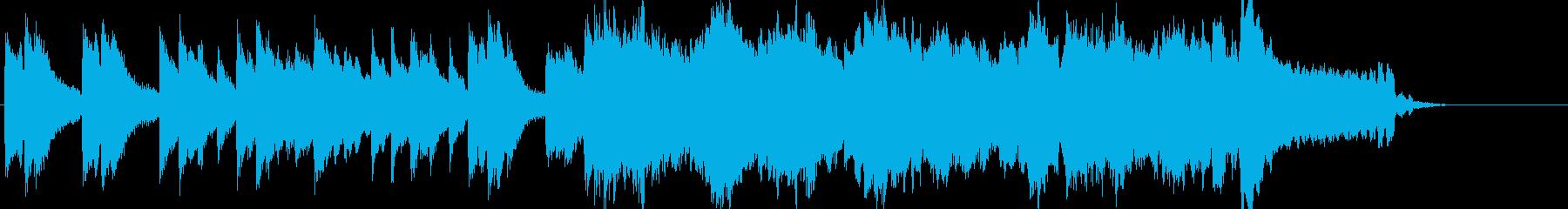 爽やかでゆったりとしたサウンドロゴの再生済みの波形