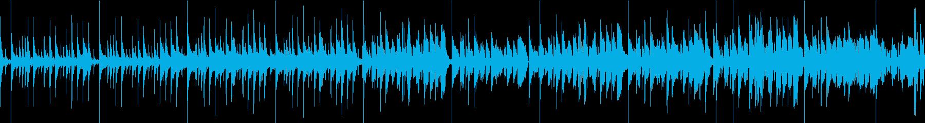 疾走感のあるドラムンベース風BGMの再生済みの波形