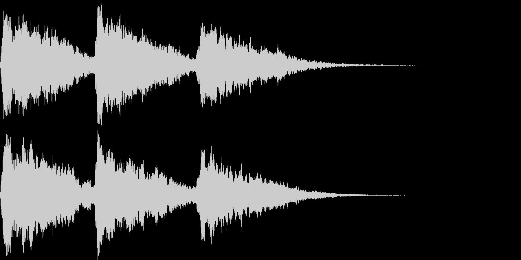 場面転換のキラキラチャイム Bの未再生の波形