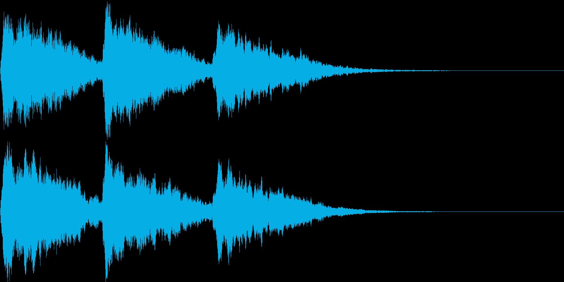 場面転換のキラキラチャイム Bの再生済みの波形