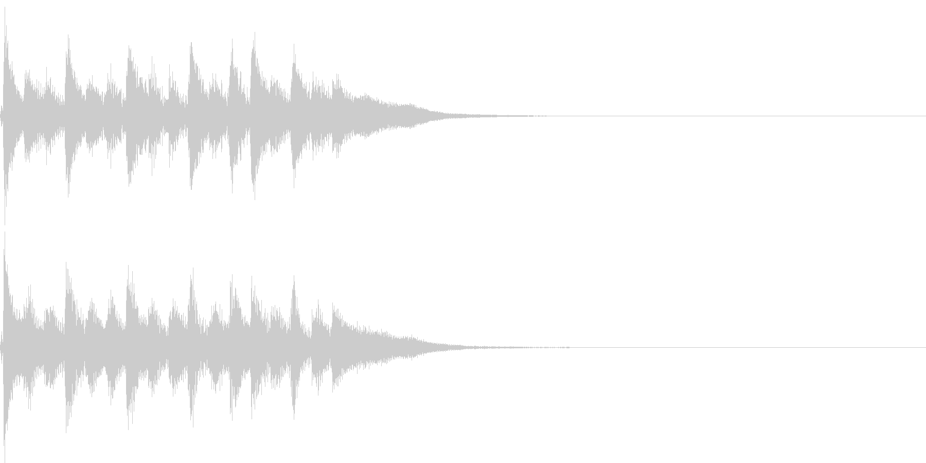 三味線風パンチのある和風ジングルの未再生の波形