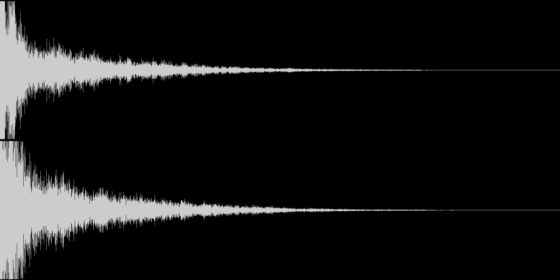 日常アニメ系のボタン効果音「てん!」2の未再生の波形