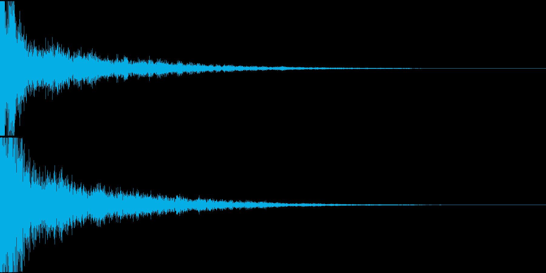 日常アニメ系のボタン効果音「てん!」2の再生済みの波形