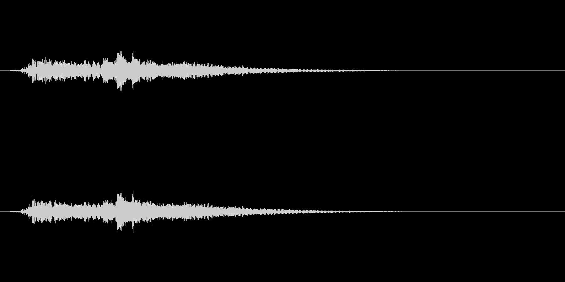 クリーントーンのエレキギター の未再生の波形