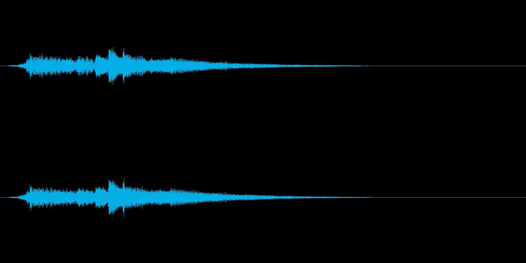 クリーントーンのエレキギター の再生済みの波形
