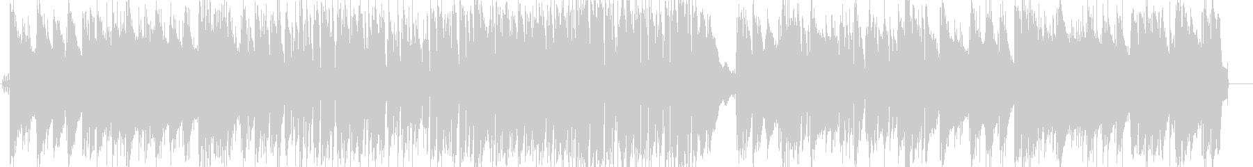 さわやかなボサノバ風ピアノトリオの未再生の波形