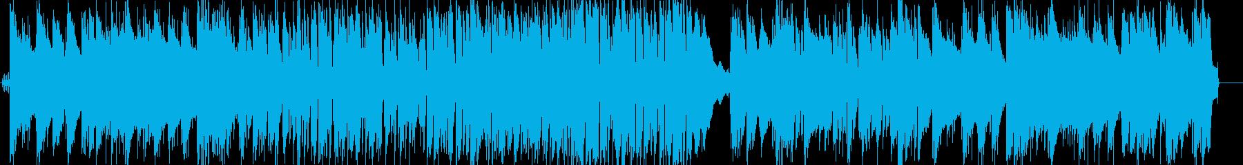 さわやかなボサノバ風ピアノトリオの再生済みの波形