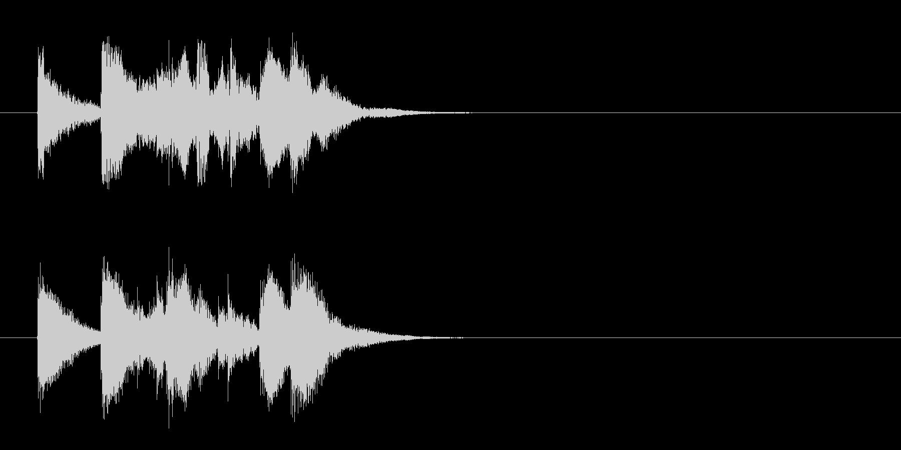 ジングル(わびさびのある純邦楽風)の未再生の波形