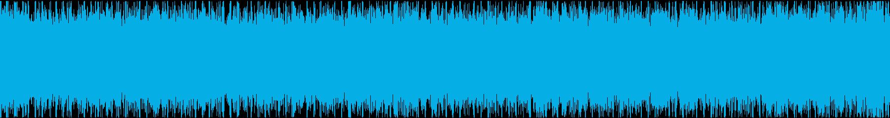 疾走感溢れるロックインストの再生済みの波形