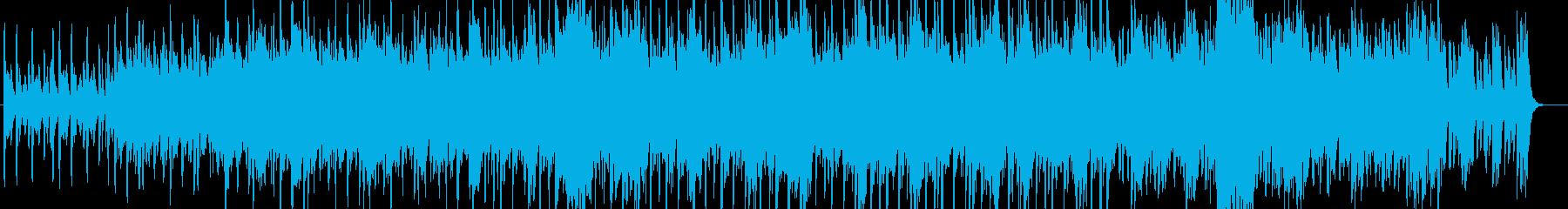 穏やかで重厚感あるストリングスメインの曲の再生済みの波形