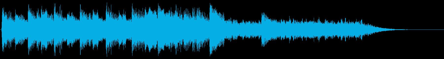 レトロな音のファンファーレ ピコピコ音の再生済みの波形