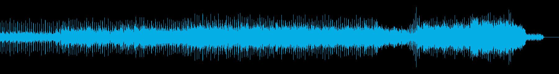 楽しく幸せなアコースティックポップの再生済みの波形