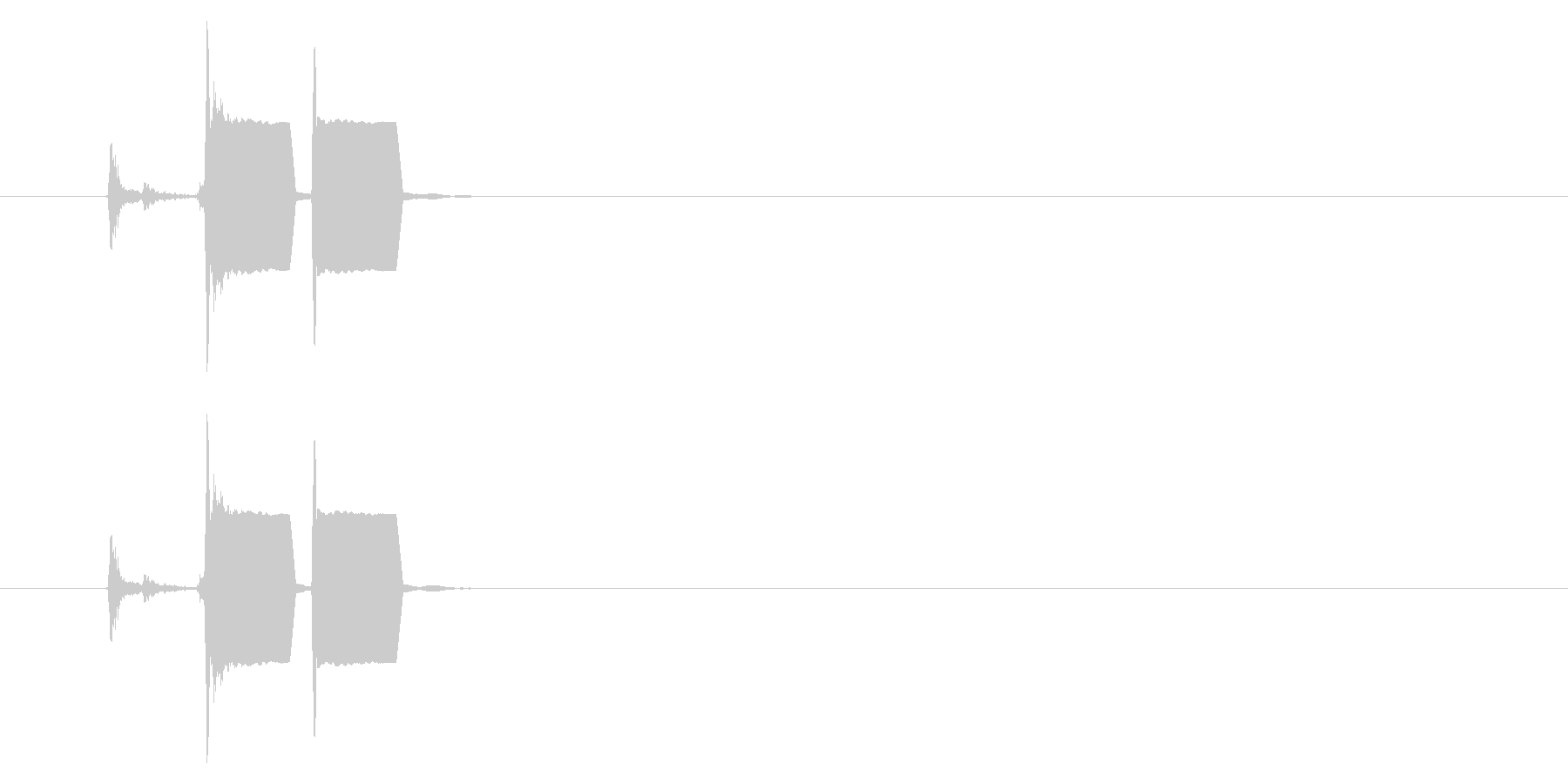 改札 ビープ音01-02(音色1)の未再生の波形