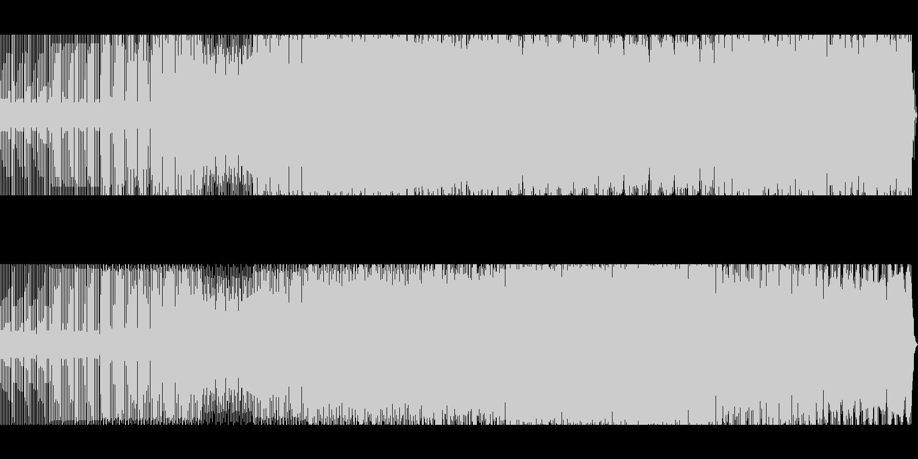 スペイシーなテックハウスの未再生の波形