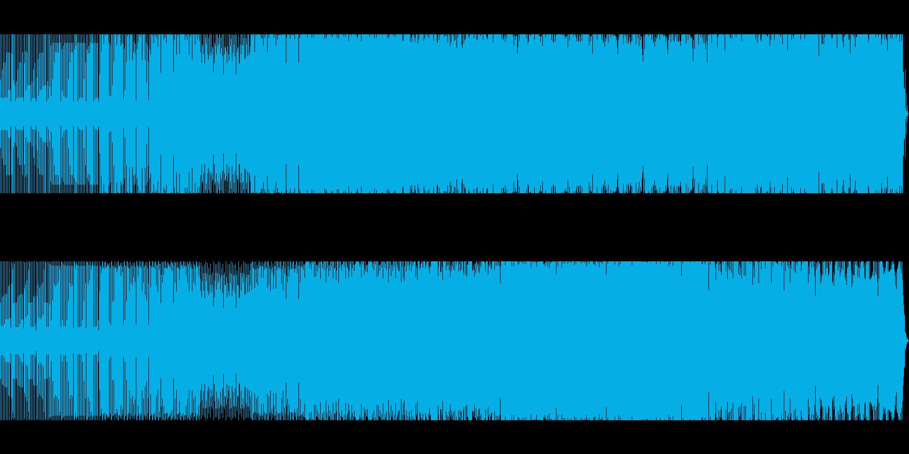 スペイシーなテックハウスの再生済みの波形