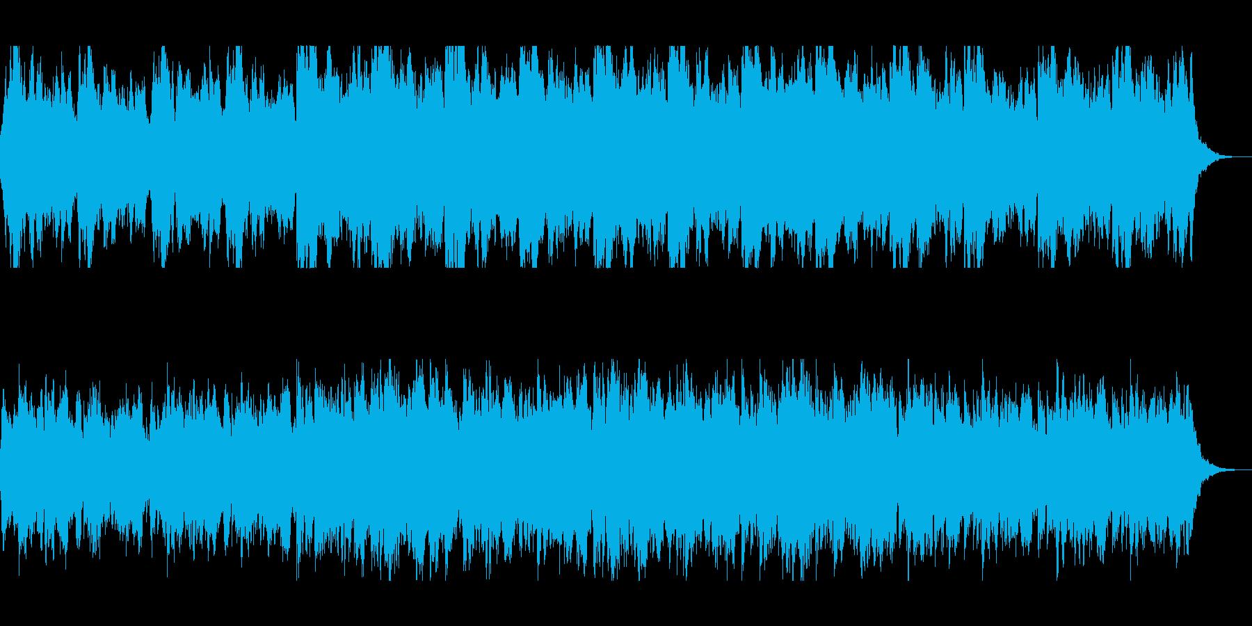 幻想的に響くヒーリング音の再生済みの波形