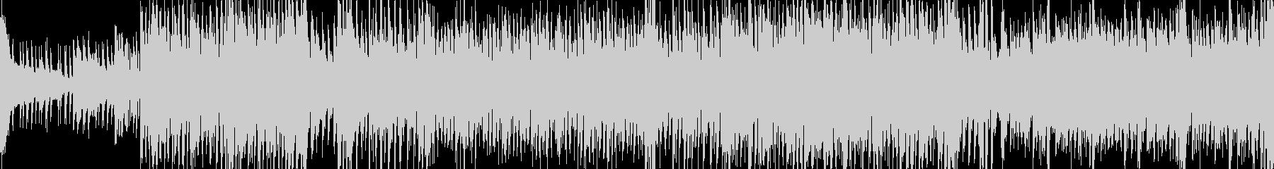 和楽器による疾走感のあるBGMの未再生の波形