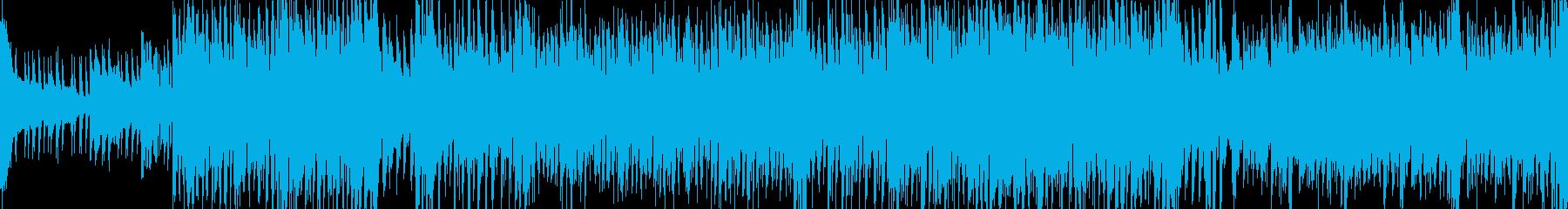 和楽器による疾走感のあるBGMの再生済みの波形