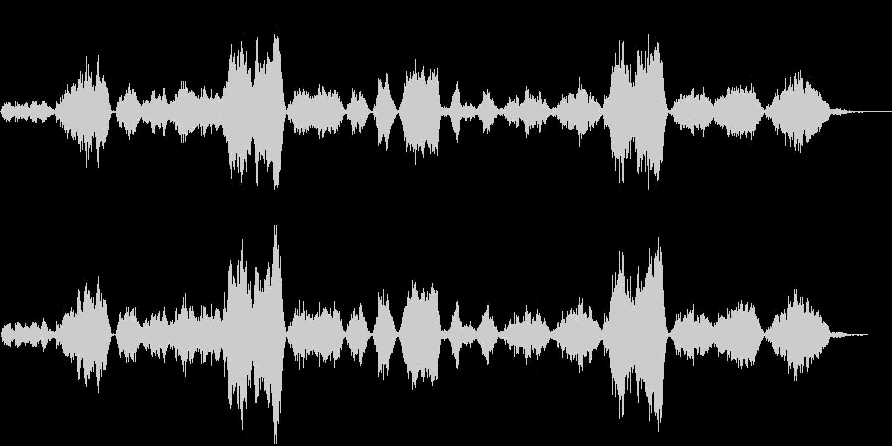 「庭の千草」の小編成の管弦楽アレンジの未再生の波形