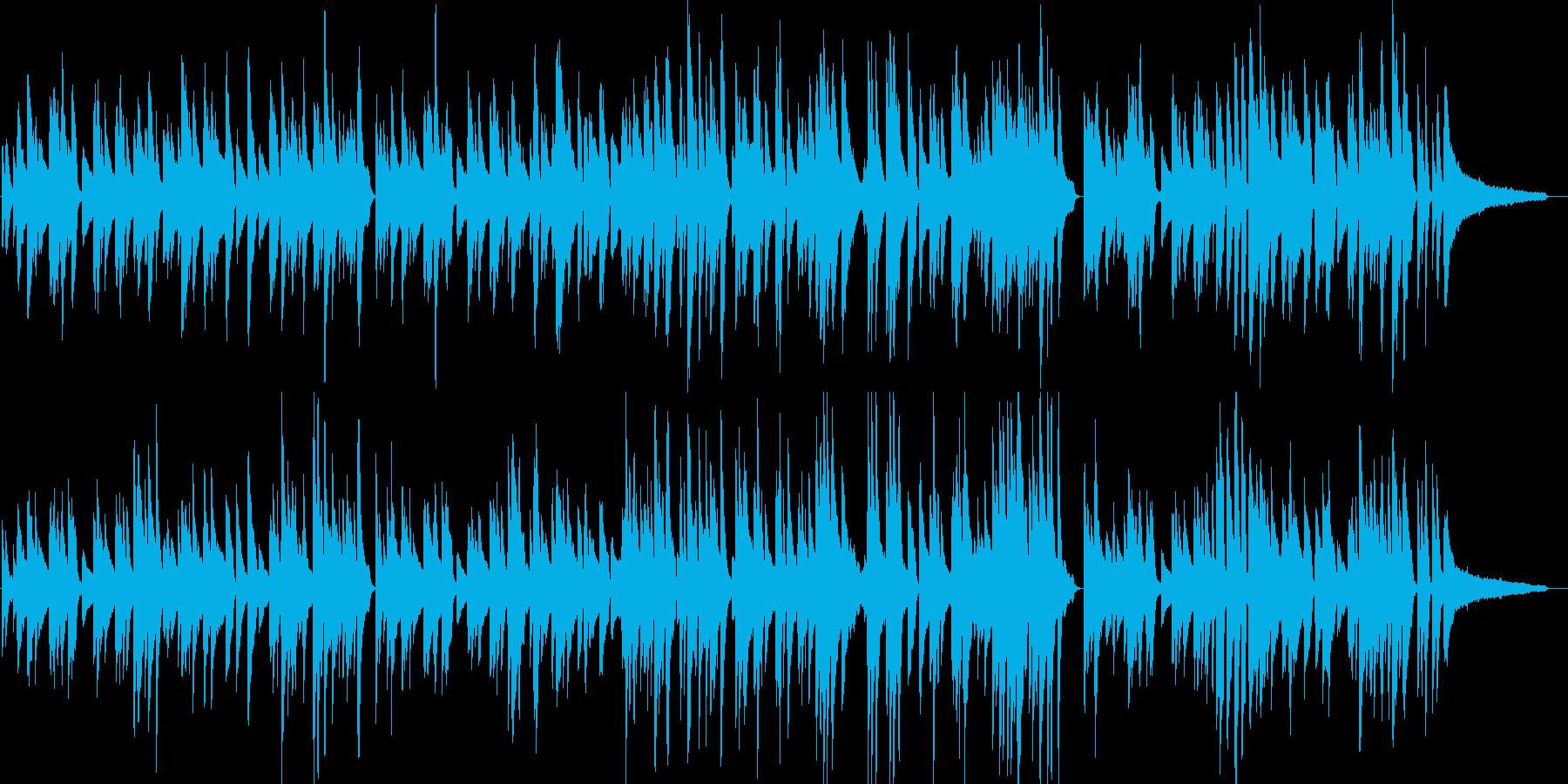 ピアノによる癒し系ジャズバラードの再生済みの波形