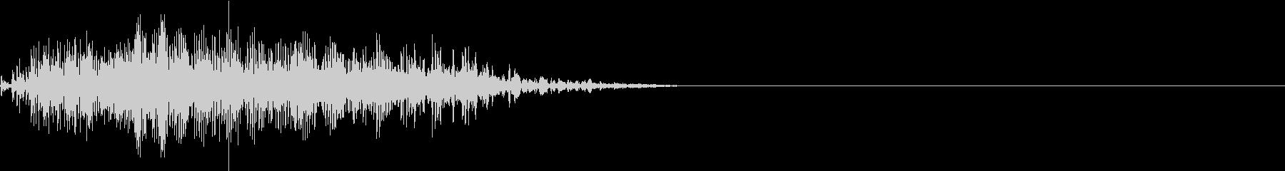 カラスの鳴き声の未再生の波形