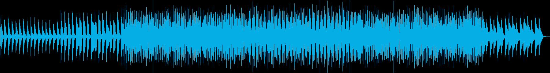 シャッフルを使った軽快で明るいインストの再生済みの波形