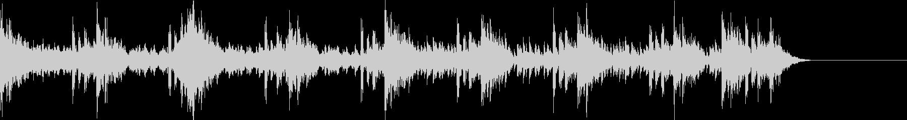 パーカッションによる緊迫としたBGM2の未再生の波形