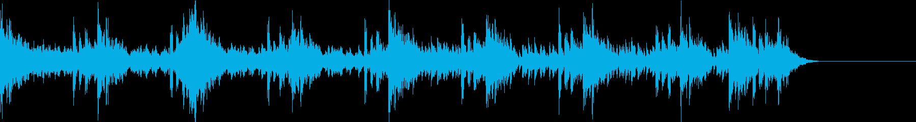 パーカッションによる緊迫としたBGM2の再生済みの波形