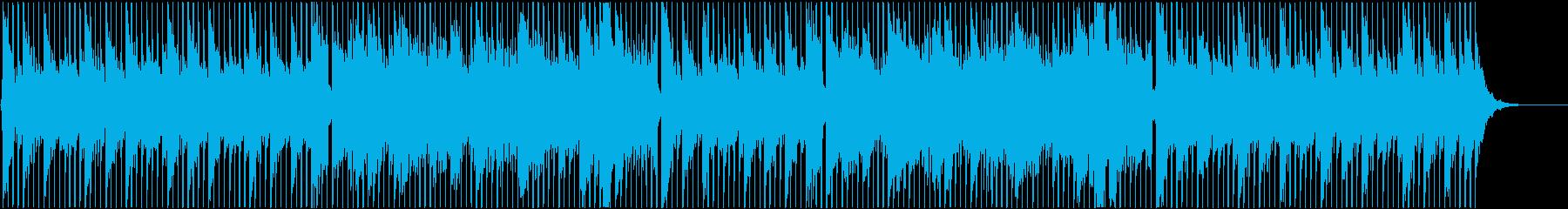 ポップス系 ギターの爽やかな四つ打ち曲の再生済みの波形