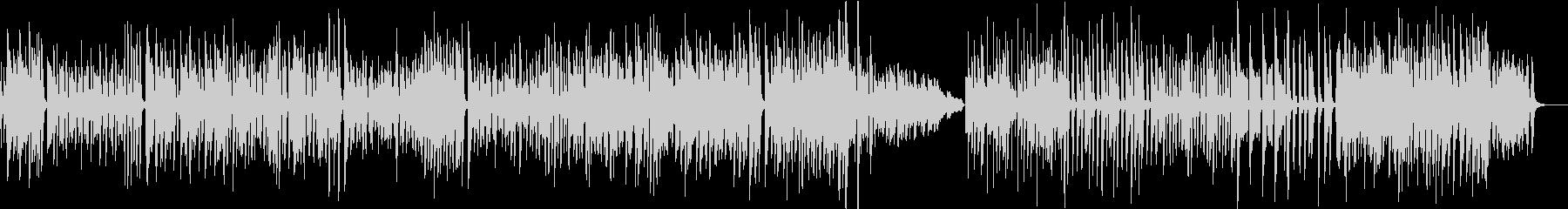 ホンキートンク風のピアノ曲の未再生の波形