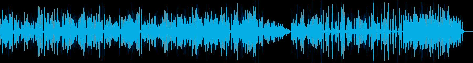 ホンキートンク風のピアノ曲の再生済みの波形