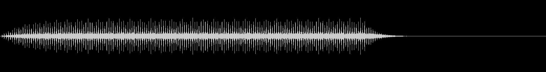 ヘリコプターのプロペラ音(バラバラバラ)の未再生の波形