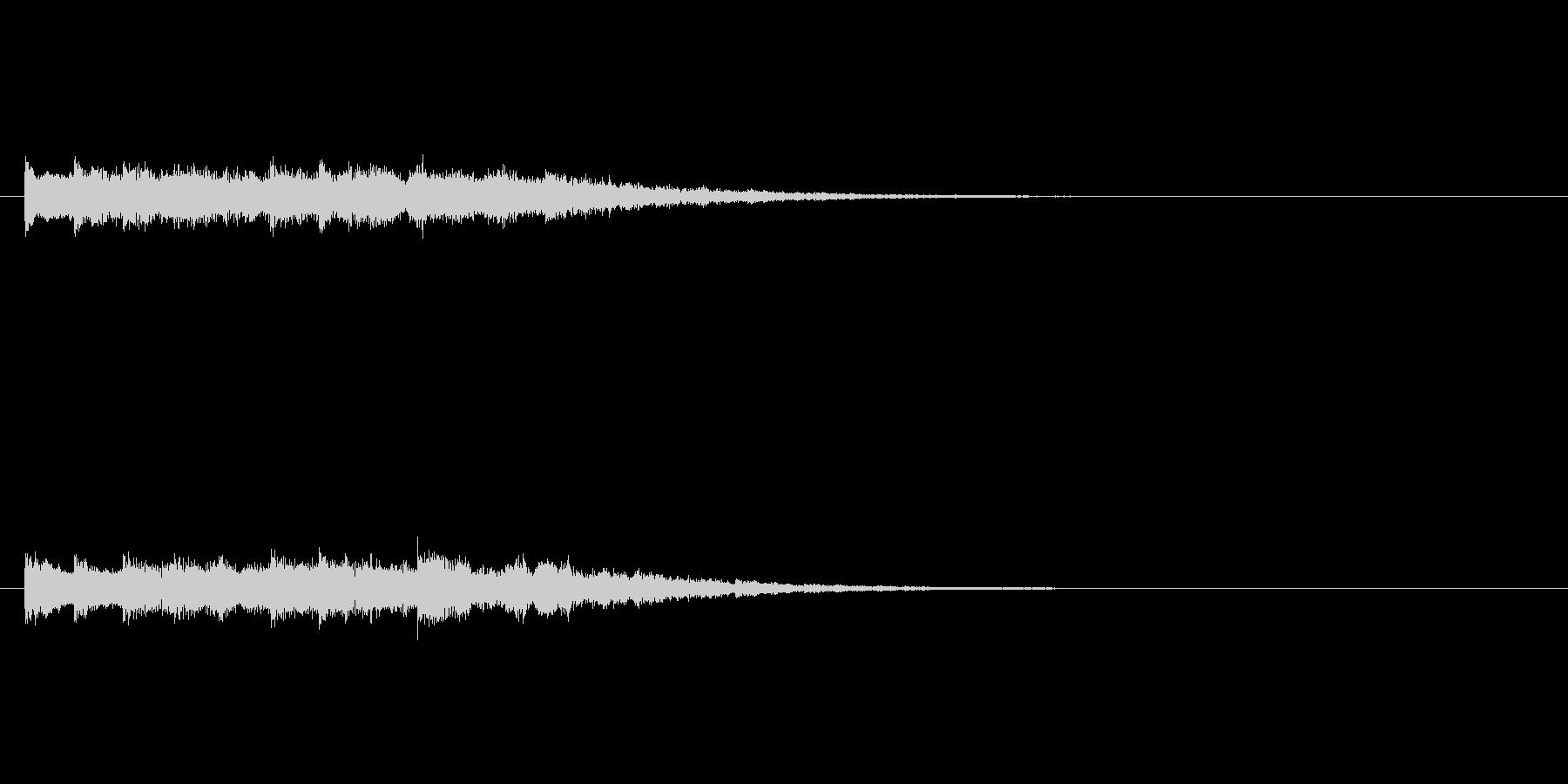 チャイムのようなベル(8秒)の未再生の波形