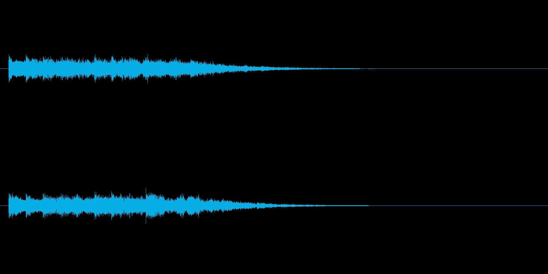チャイムのようなベル(8秒)の再生済みの波形