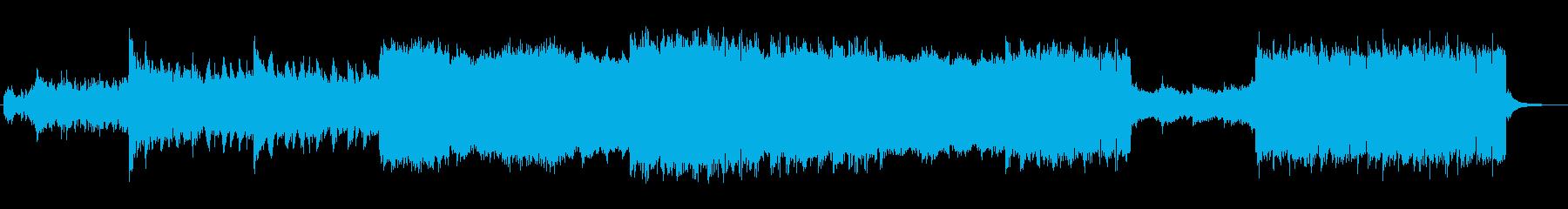 宇宙イメージのミッドテンポなEDMの再生済みの波形