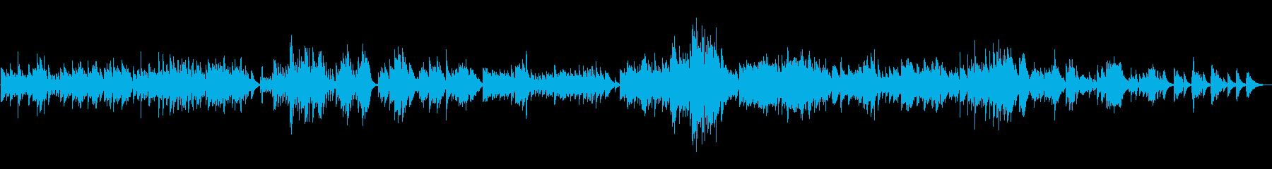 メロディの美しいハープソロ『悲愴ソナタ』の再生済みの波形