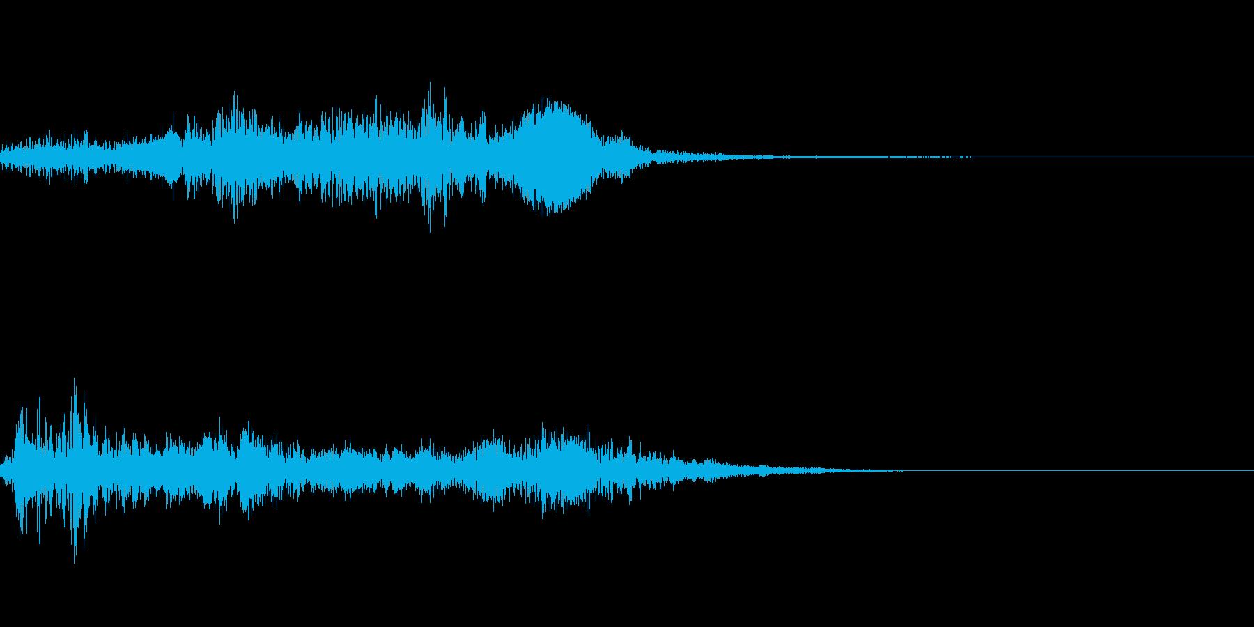 ホラー系導入音_その11の再生済みの波形