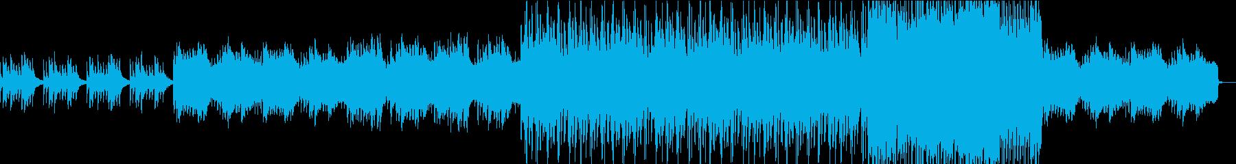 厳かな雰囲気の和風の曲の再生済みの波形