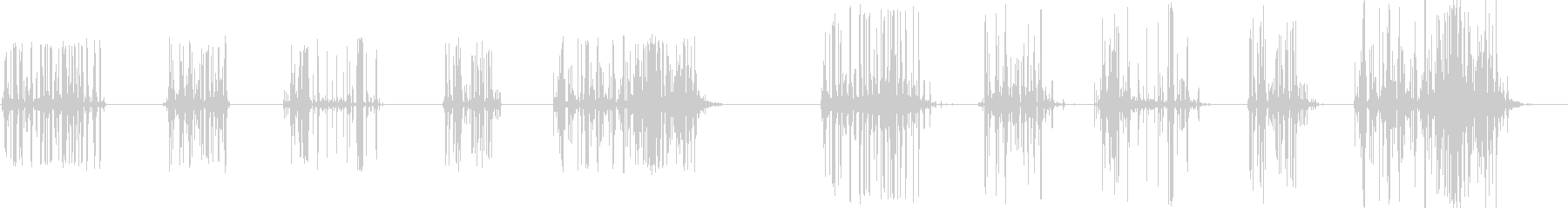 ウッドクラッシュ、5つのバージョン...の未再生の波形