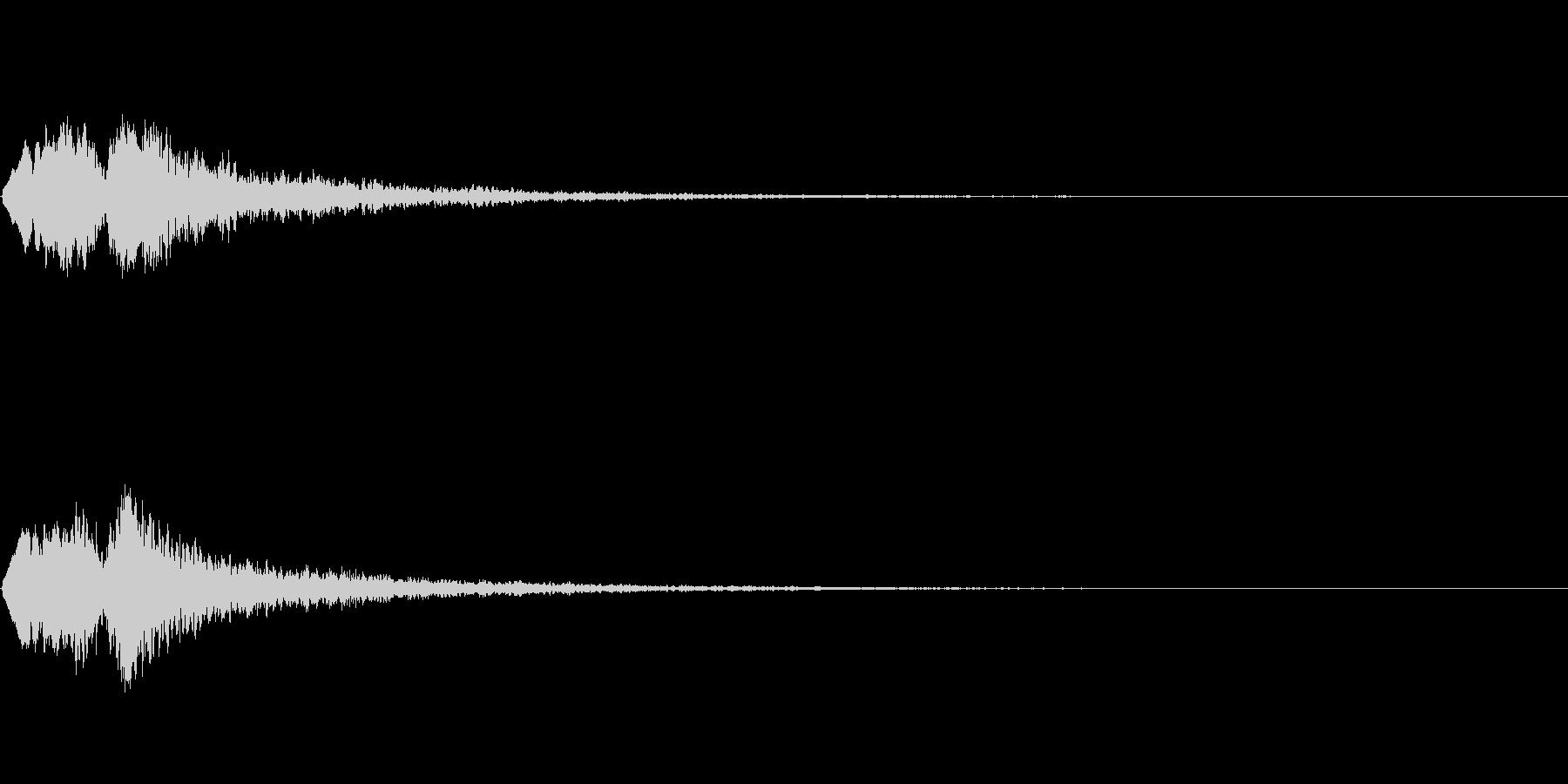 Vox 不気味な鳴き声 ホラーSE 5の未再生の波形