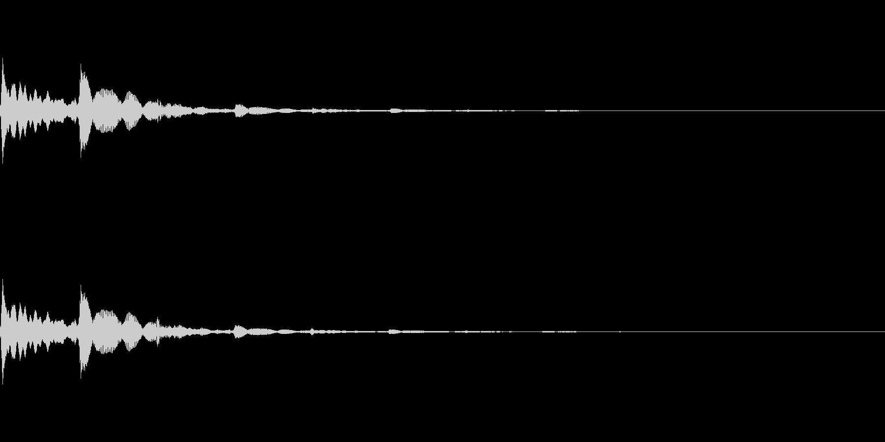 ピコン(タップ・お知らせ・通知音)の未再生の波形