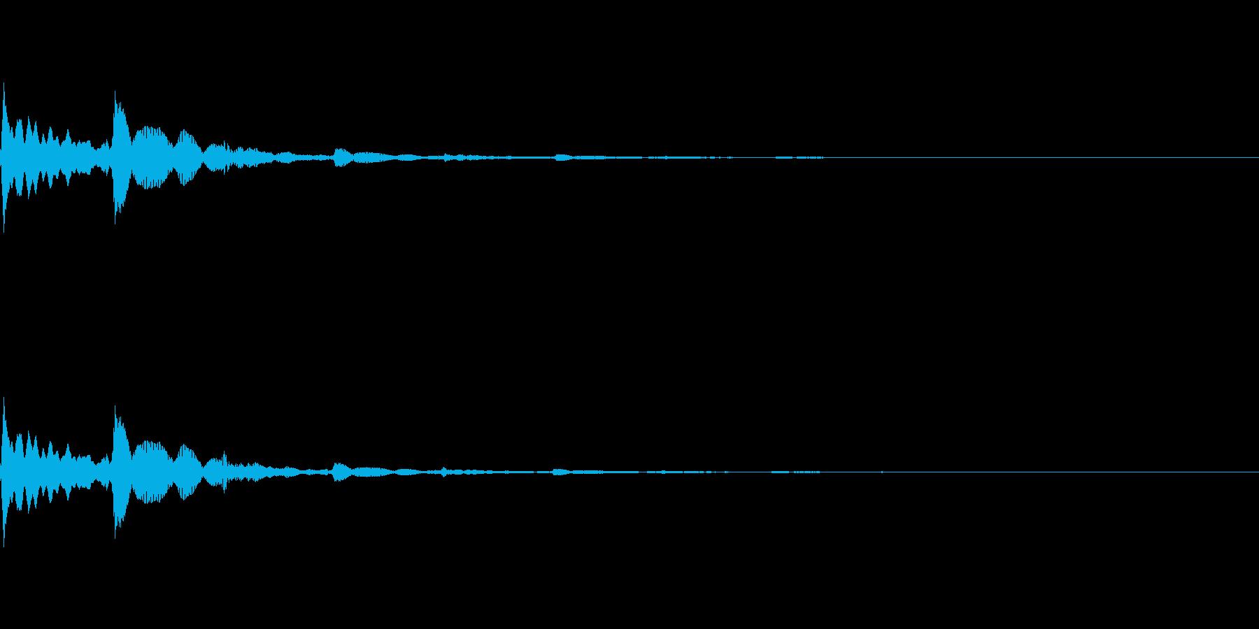 ピコン(タップ・お知らせ・通知音)の再生済みの波形