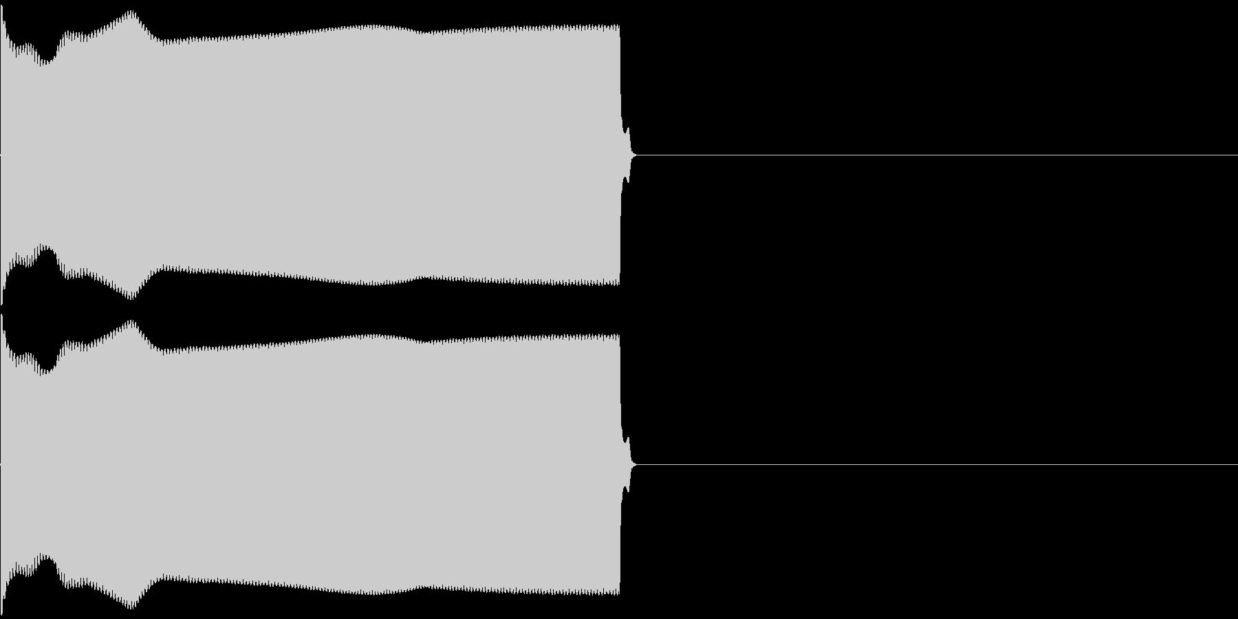 ピー (電子音、規制音などに)の未再生の波形