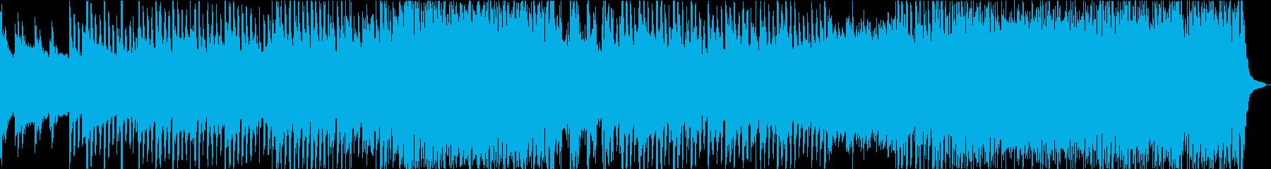 前向きで爽やかなトロピカルハウスの再生済みの波形