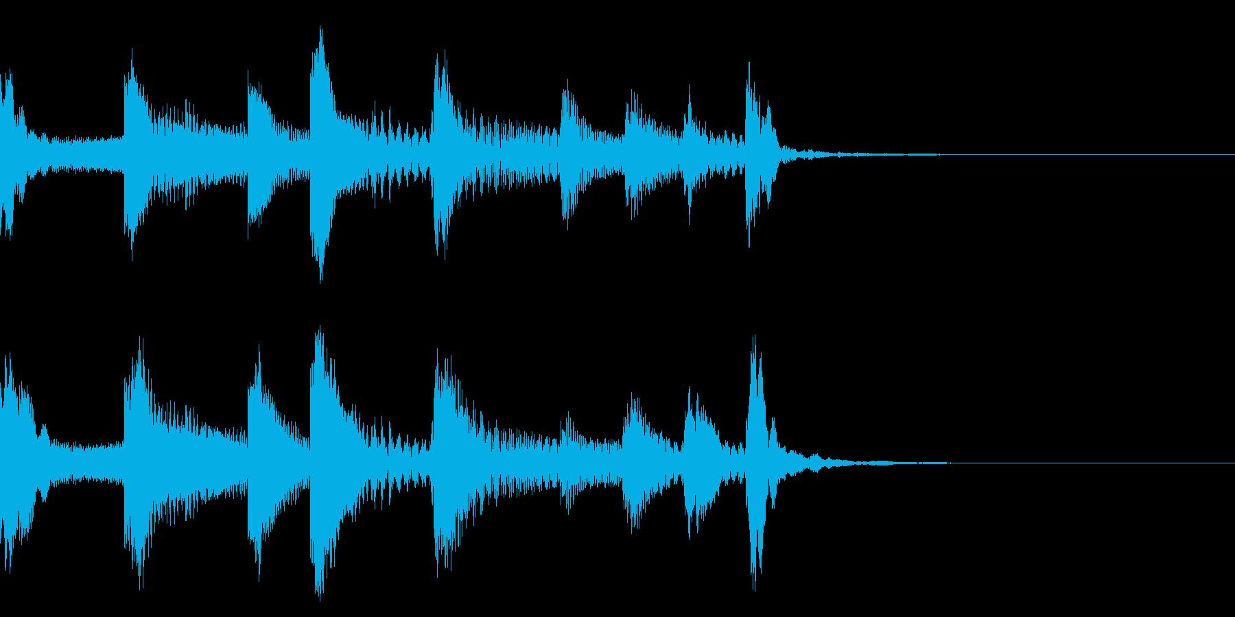 マリンバとピチカートの爽やかなジングルの再生済みの波形
